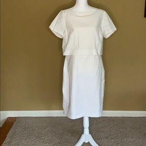 Banana Republic White Seersucker Dress